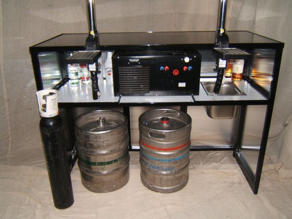 Collapsible Mobile Bar Unit with under storage
