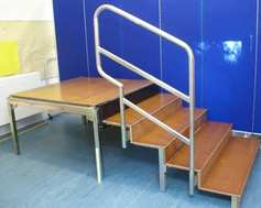 one module with step unit and handrail without fascia