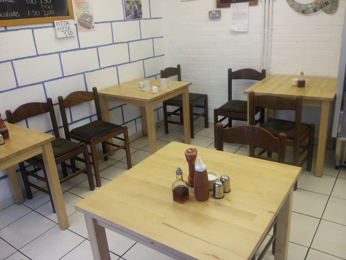Secondhand chairs and tables restaurant