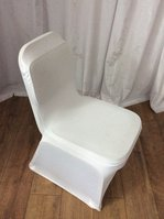 White Lycra Spandex chair covers