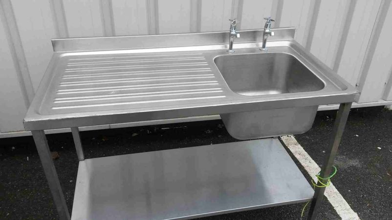 Free Standing Stainless Steel Sink : ... Sinks and Dishwashers Commercial Stainless Steel Sink - York