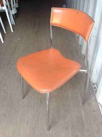 Aluminium and leather chairs