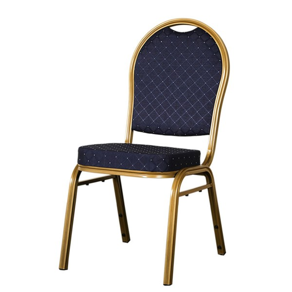 blue round banqueting chair