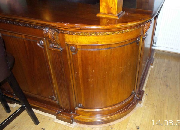 buy solid mahogany bar and canopy
