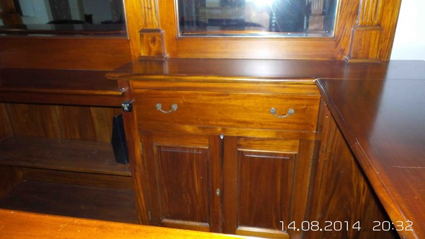 solid mahogany bar and canopy for sale