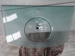 moulded glass hand basin