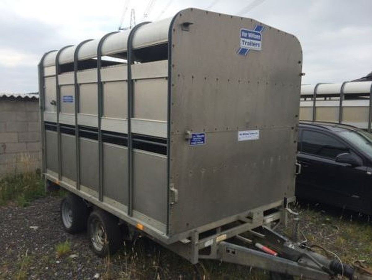 secondhand trailers livestock ifor williams dp120 10ft twin axle livestock trailer with. Black Bedroom Furniture Sets. Home Design Ideas