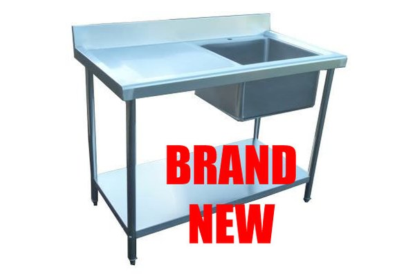 Steel Single Sink With Left Hand Drainer
