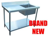New Stainless Steel Sink With Left Hand Drainer