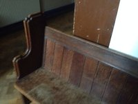 Solid oak church pews
