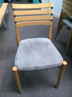 Wooden framed chair with upholstered seat