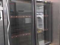 Elstar Double Door Under Counter Glass Fronted Bottle Fridge