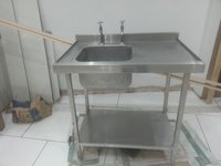 Catering sink with taps