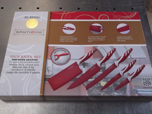 Red Royalty Line 5 Piece Knife Set