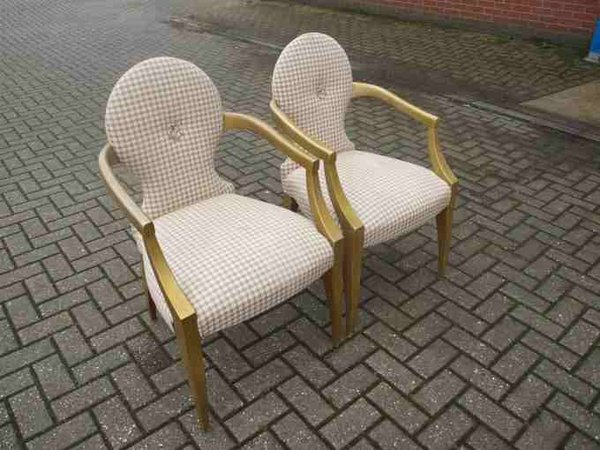 William McLean Carver Gold Frame Chairs