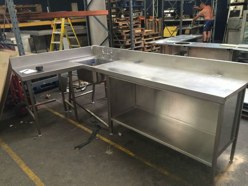 Used Commercial Kitchen Sinks Stainless Steel : ... Stainless Steel Tables > Commercial Stainless Steel Kitchen Unit