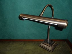 Classic swan necked antique patina desk lights