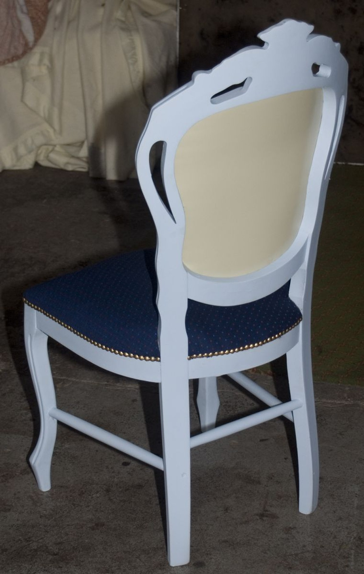Secondhand Hotel Furniture Banquet Chair Vintage Sky Blue Chair With Blue Upholstery Shabby Chic French Style Peterborough Cambridgeshire