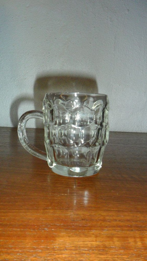 Dimple Glass Pint & half Pint Tankards for sale