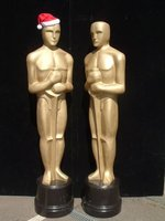 Gold award statues as new
