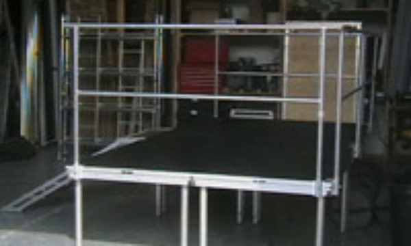 2mx1m Baltic Staging decks with handrail