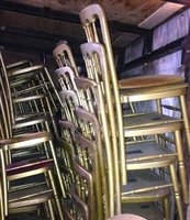 Stackable Gold Wooden Gilt Cheltenham Banquet Chairs