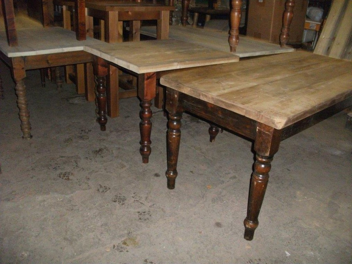 Secondhand catering equipment stock liquidation for Rustic farm tables for sale