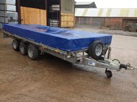 Ifor Williams LM166G3 Tri Axle Trailer with blue cover