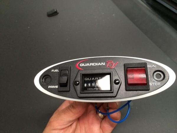 Generator remote start / stop panel