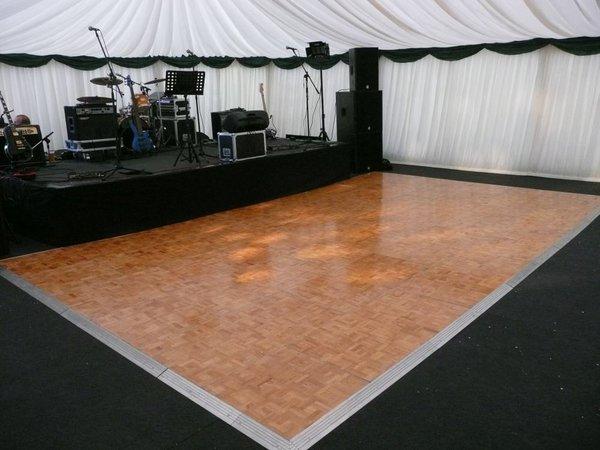20ft by 20ft  Light Oak Parquet Polished Dance Floor