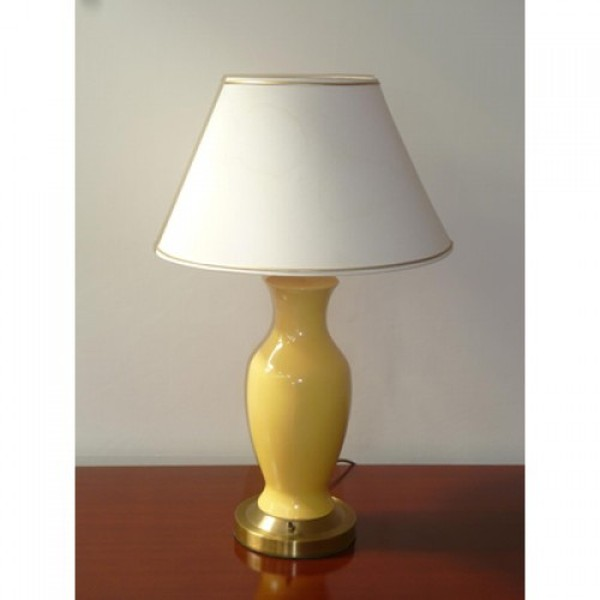 Yellow and Gold gilt table light