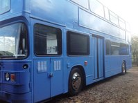 Double decker bus kitted out for exhibitions
