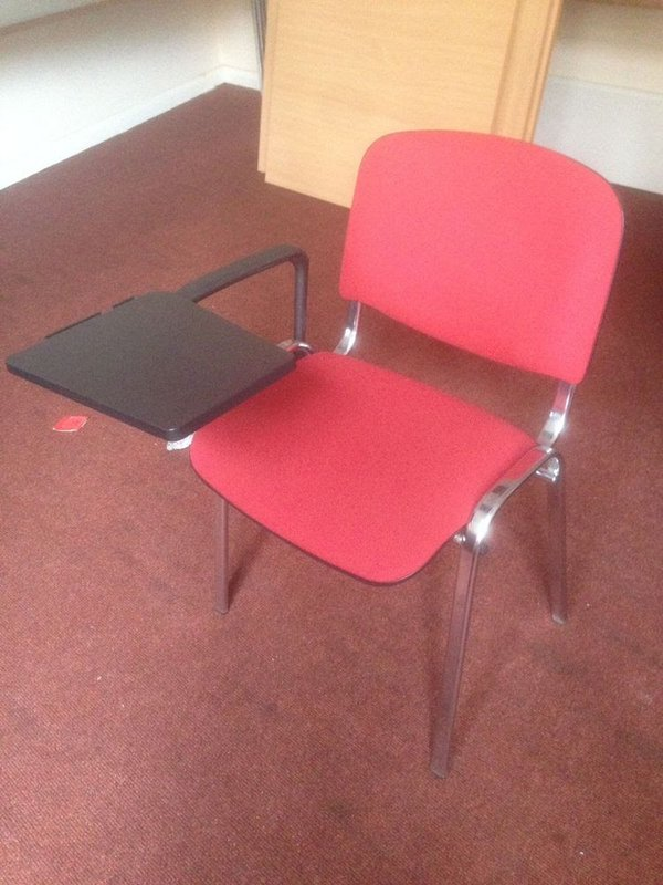 Conference chairs with writing tablet