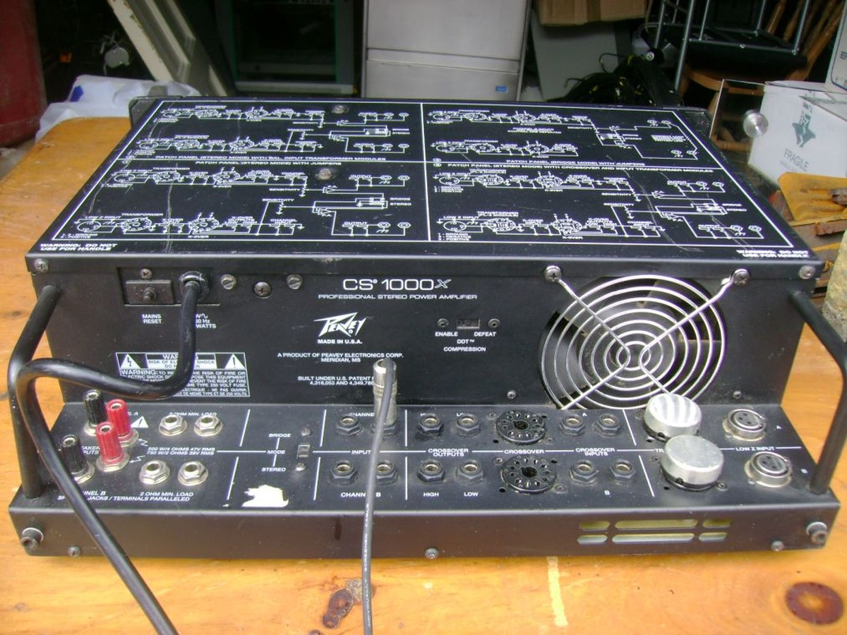 Secondhand Sound And Lighting Equipment Amplifiers 1x Peavey Amp CS1000x
