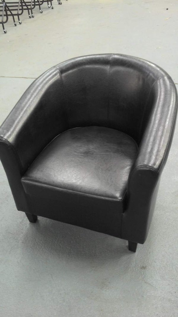 Faux Leather Effect Tub Chairs
