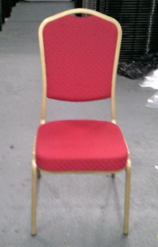 red banqueting chairs