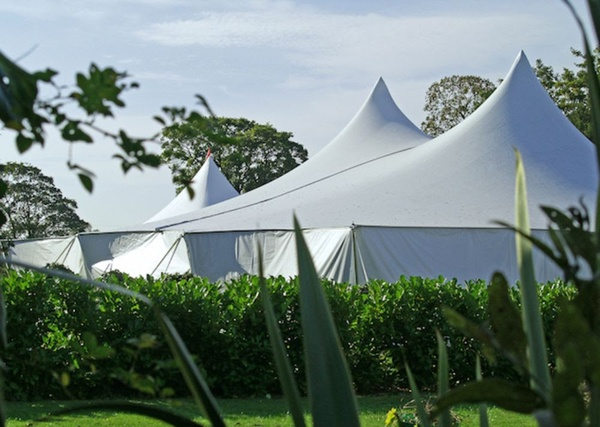 60ft x 60ft Tentnology Poleadion Unusual Marquee