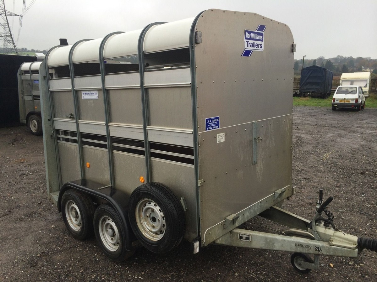 secondhand trailers ifor williams trailers ifor williams ta5 8ft twin axle livestock. Black Bedroom Furniture Sets. Home Design Ideas