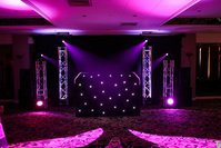 Dj booth with starcloth