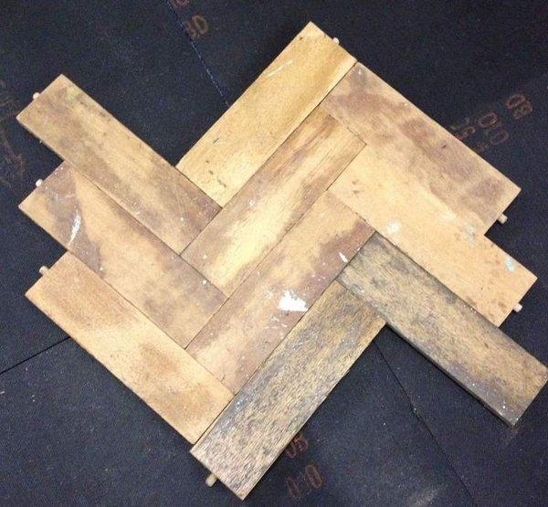 Reclaimed Solid Wood Parquet Flooring Wood Blocks