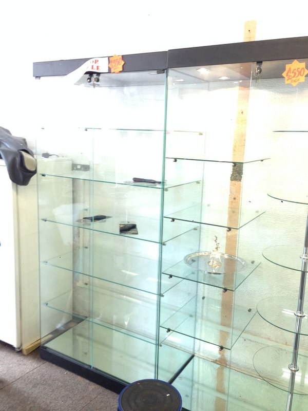 Illuminated Glass Display Cabinets