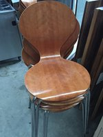 Stacking Plywood chairs for sale