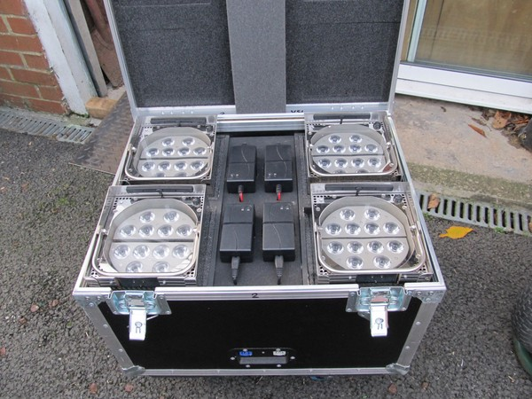 20 Second Hand Showtec Eventspot 1900 Mk 1 Battery/ Wireless Up-Lighters
