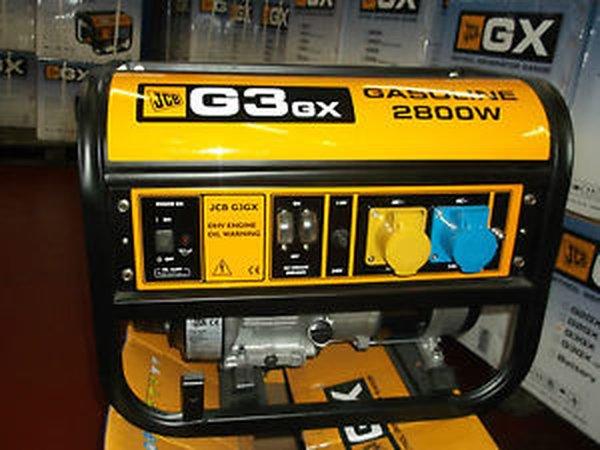 JCB Premium range G3GX petrol generator