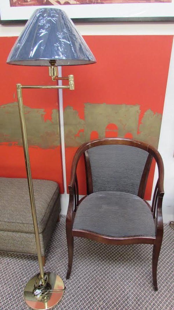 Brass reading lamp