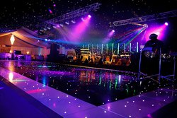 LED Black and white dance floor