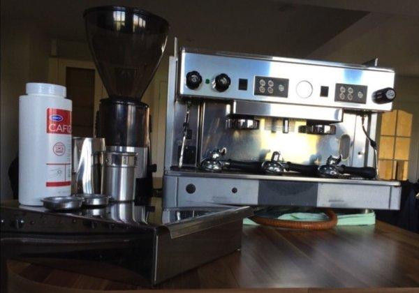 Wega Pegaso Coffee Machine with La Scala Coffee Grinder and Knock Out Box