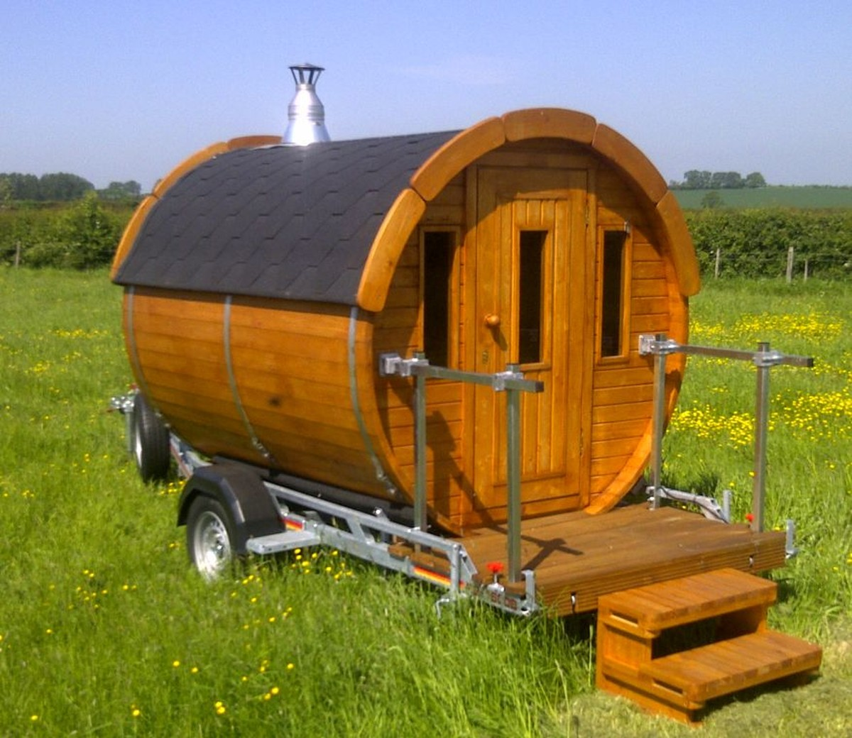 Mobile Sauna Business Trailer on pallet house floor plans