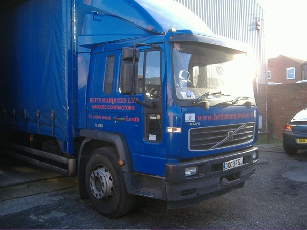 Marquee Business Volvo Curtainside Lorry