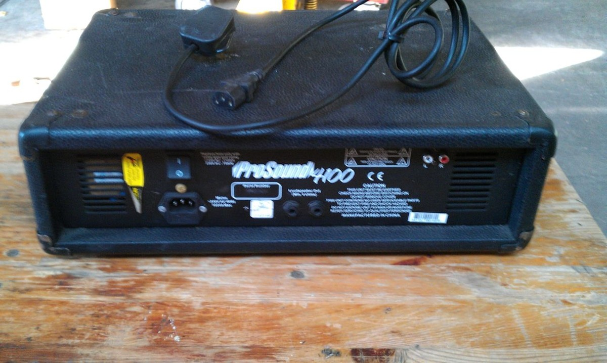 Secondhand Sound And Lighting Equipment Amplifiers Pro Sound 4100 Amp E